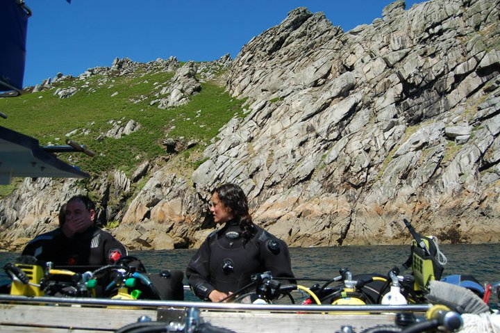 Lundy Island diving, UK