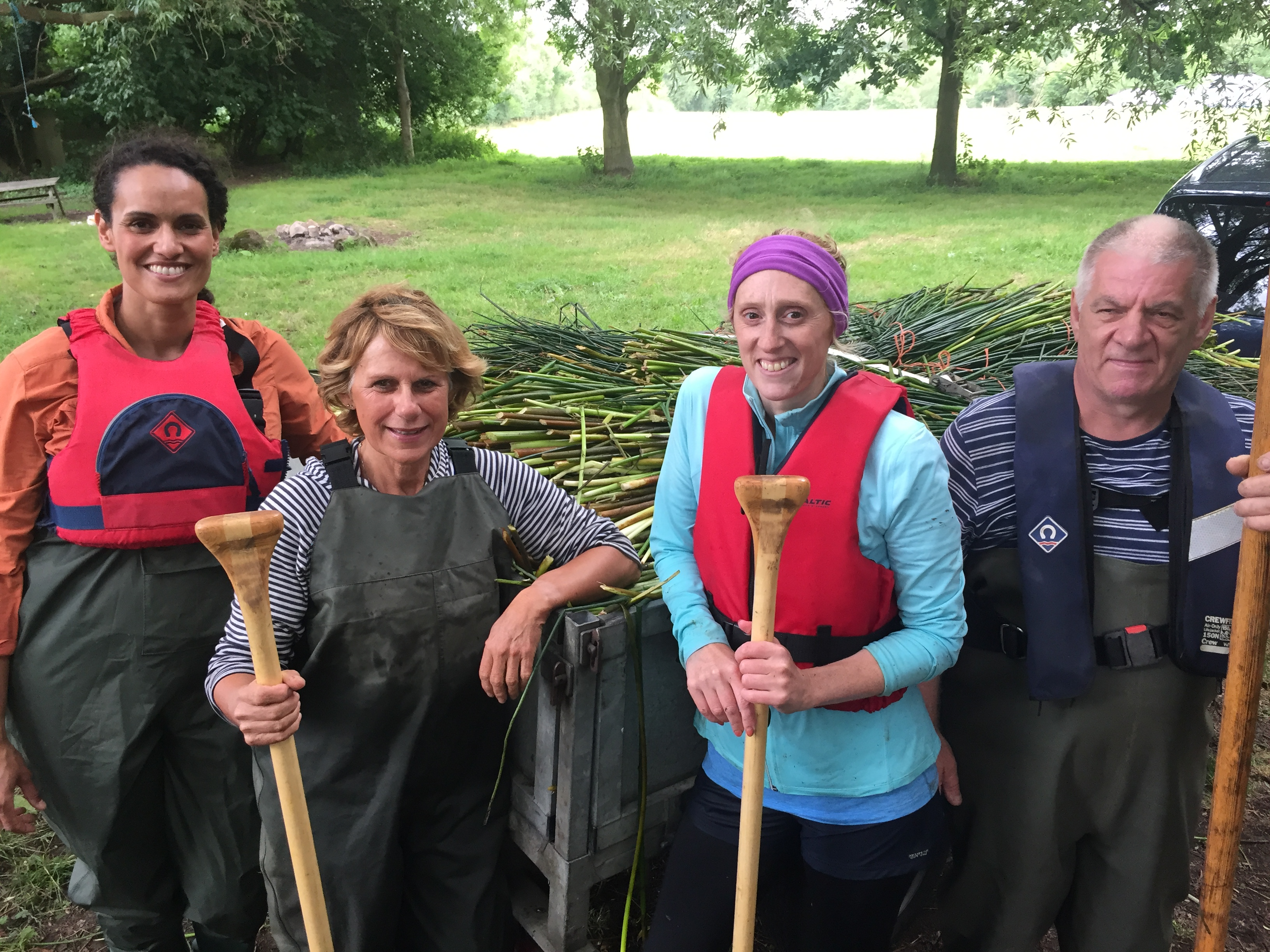 the reed cutters of the Waveney