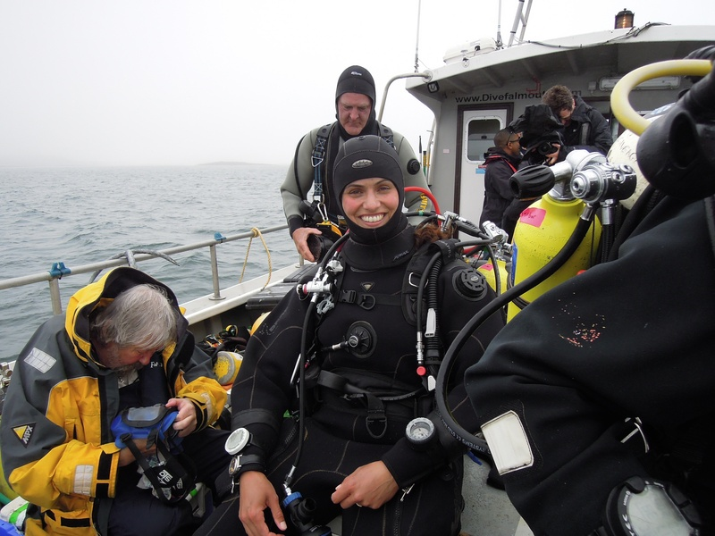 Richard Bull, my dive minion(!) prepares my mask and comms